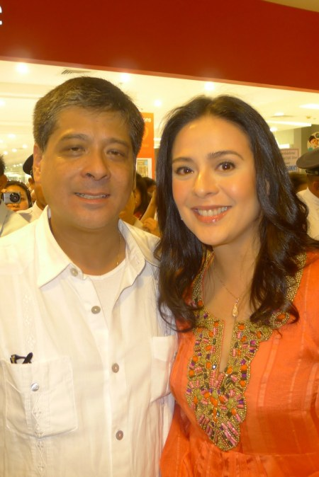 Congressman Anton Lagdameo with lovely wife Dawn at Robinsons
